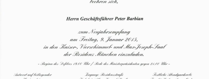 Einladung Neujahrsempfang